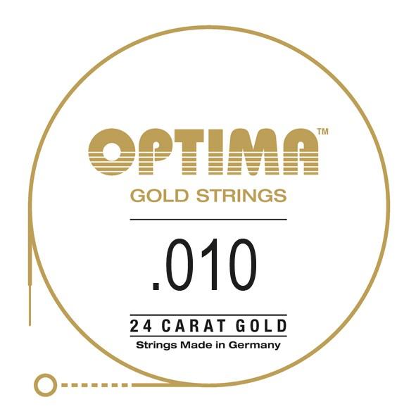 Gold Einzelsaite 010 plain